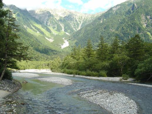 梓川と穂高岳